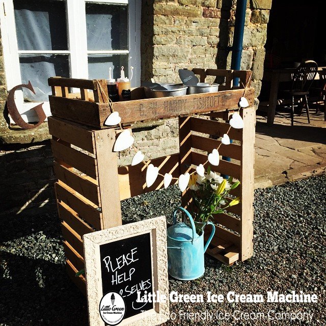 Little green ice cream machine icecream bike hire South Wales